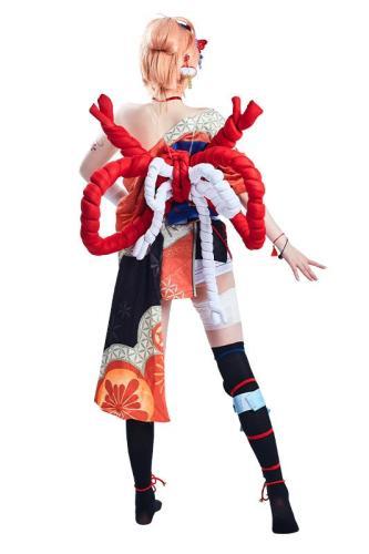 Genshin Impact Yoimiya Halloween Carnival Suit Outfits Cosplay Costume