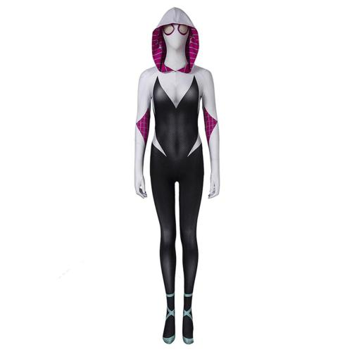 Spider-Man: Into the Spider-Verse -Gwen Stacy Cosplay Costume Jumpsuit Outfits Halloween Carnival Suit