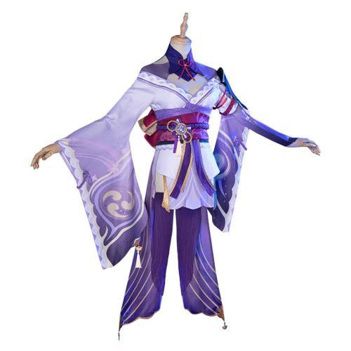 Genshin Impact Baal Raiden Shogun Cosplay Costume Outfits Halloween Carnival Suit