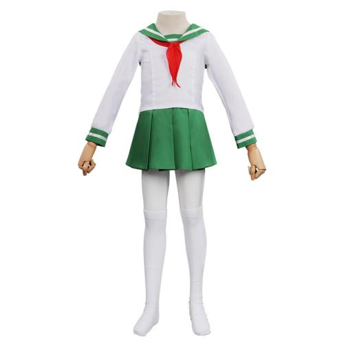 Kids Anime Inuyasha -Higurashi Kagome Cosplay Costume Outfits Halloween Carnival Suit