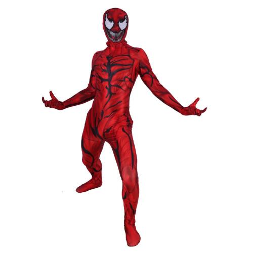 Venom: Let There Be Carnage Carnage Cosplay Costume Jumpsuit Mask Zentai Bodysuit Halloween Carnival Suit Lycra
