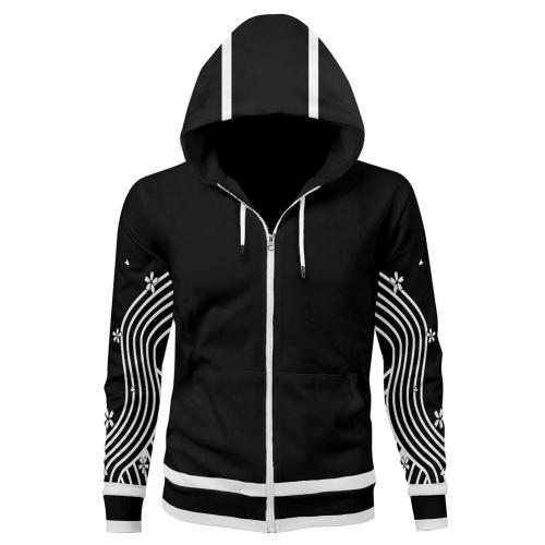 Tokyo Revengers Senju Kawaragi Brahman Cosplay Hoodie 3D Printed Hooded Sweatshirt Men Women Casual Streetwear Zip Up Jackat Coat