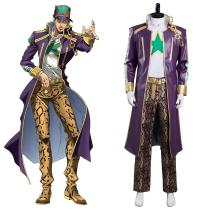 Anime JoJo's Bizarre Adventure Stone Ocean Kujo Jotaro Cosplay Costume Outfits Halloween Carnival Suit
