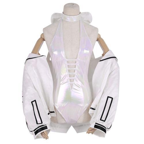 EVA  Ayanami Rei Cosplay Costume Halloween Carnival Suit Including:Vest Wrist Guard