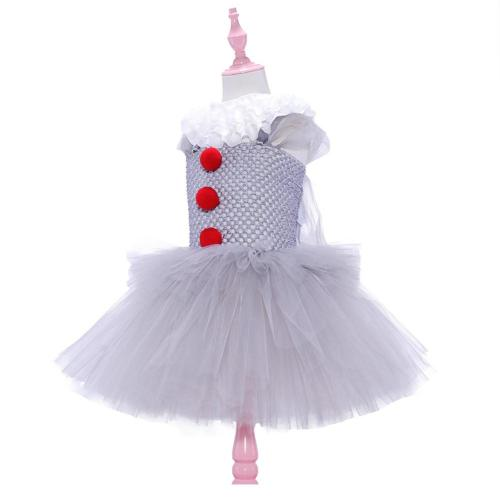 Kids Stephen King's It Pennywise Cosplay  Costume  Tutu Dress Halloween Carnival Suit