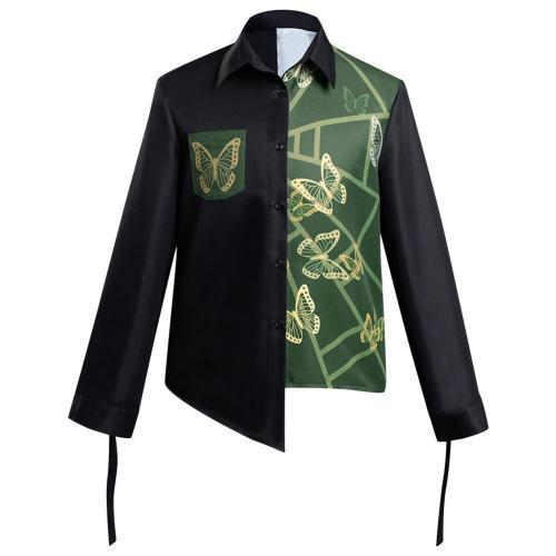 Anime JoJo's Bizarre Adventure Stone Ocean Jolyne Cujoh Cosplay Long Sleeve Shirt Costume Halloween Carnival Suit Re-creation Design