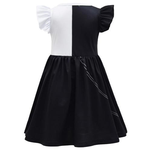 Kid Cruella Cosplay Dress Halloween Carnival Suit