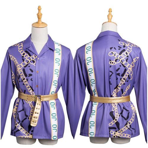 Anime JoJo's Bizarre Adventure Stone Ocean Kujo Jotaro Cosplay Costume Shirt Outfits Halloween Carnival Suit