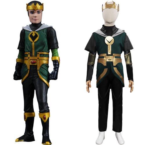 Loki Season 1 Kid Loki Cosplay Costume Outfits Halloween Carnival Suit
