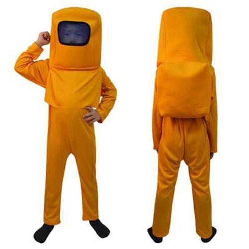 Game Among Us Cosplay Costume Astronaut Children Kids Halloween Costumes 3 Pcs Space Suit Jumpsuit Mask Bag Set