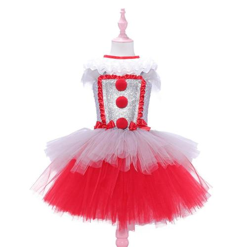 Stephen King's It Cosplay Costume Outfits Girls Dress Halloween Carnival Suit