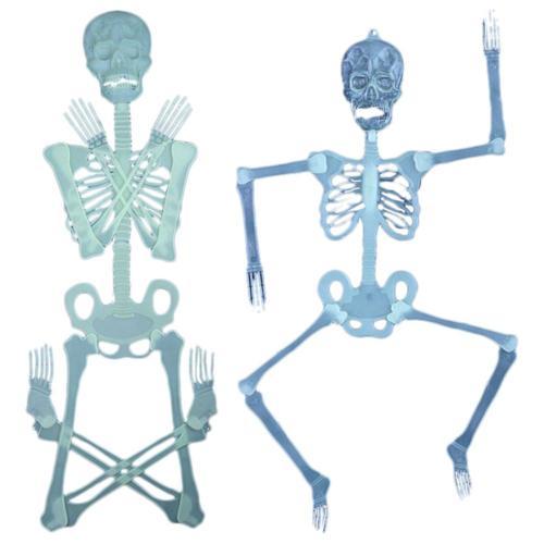 90CM Horror Luminous Skull Skeleton Hallowmas Night Lights Props Halloween Decoration Pendant