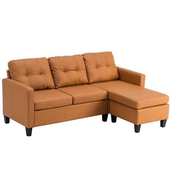 Technology Cloth Combination Sofa Light Brown