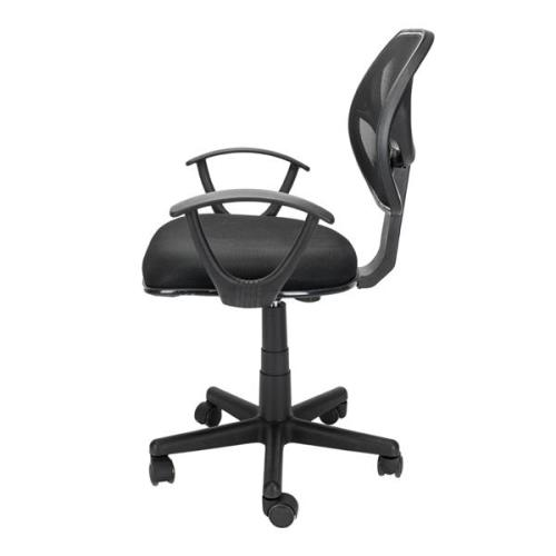Jose Home Office Room Use Nylon Five-star Feet Mesh Chair Black