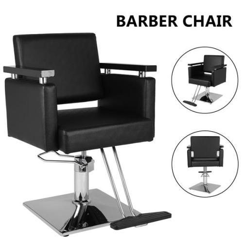 Hair Beauty Equipment Hydraulic Barber Chair Modern Black Styling Salon Haircut