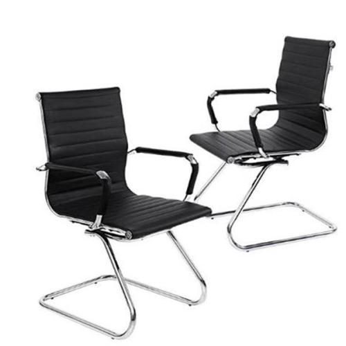 (60x54x98cm) Black PU Bow Armchair Office Chair Black