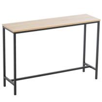 Industrial Style Porch Table Single Layer Oak Color Triamine Board [105 * 30 * 71cm]