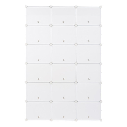 12-Tier Portable 72 Pair Shoe Rack Organizer 36 Grids Tower Shelf Storage Cabinet Stand Expandable for Heels, Boots, Slippers, White