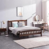 PWB-044 Cap Vertical Strip Bed Walnut Color Full