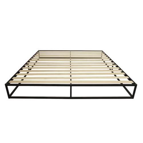 Simple Basic Iron Bed King Size Black