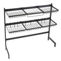 Stainless Steel Double Layer, Inner Length 92cm Kitchen Bowl Rack Shelf
