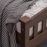 PWB-044 Cap Vertical Strip Bed Walnut Twin