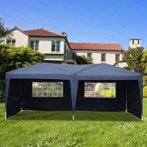 Lotto 3 x 6m Two Windows Practical Waterproof Folding Tent Blue