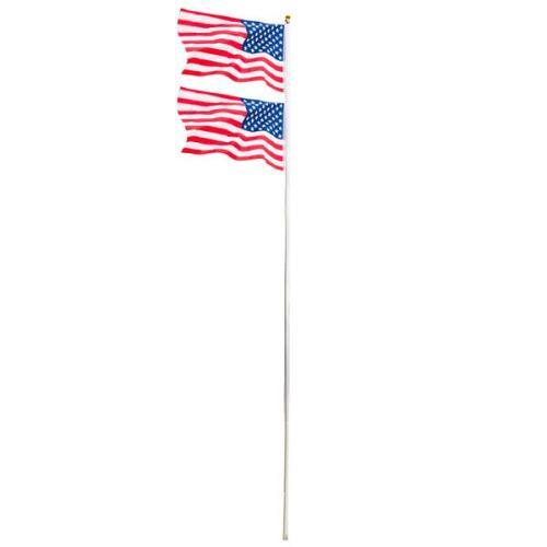 25ft Solemn Outdoor Decoration Sectional Halyard Pole US America Flag Flagpole Kit