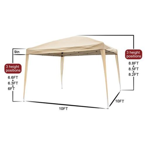 3 x 3m Home Use Outdoor Camping Waterproof Folding Tent with Carry Bag Khaki