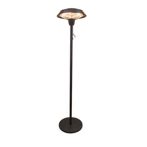 Outdoor Freestanding Electric Patio Heater, Infrared Heater, Hammered Bronze Finished, Portable Heater suitable as a Balcony Heater, BBQ and Outdoor Party Heater, 1566-C-S