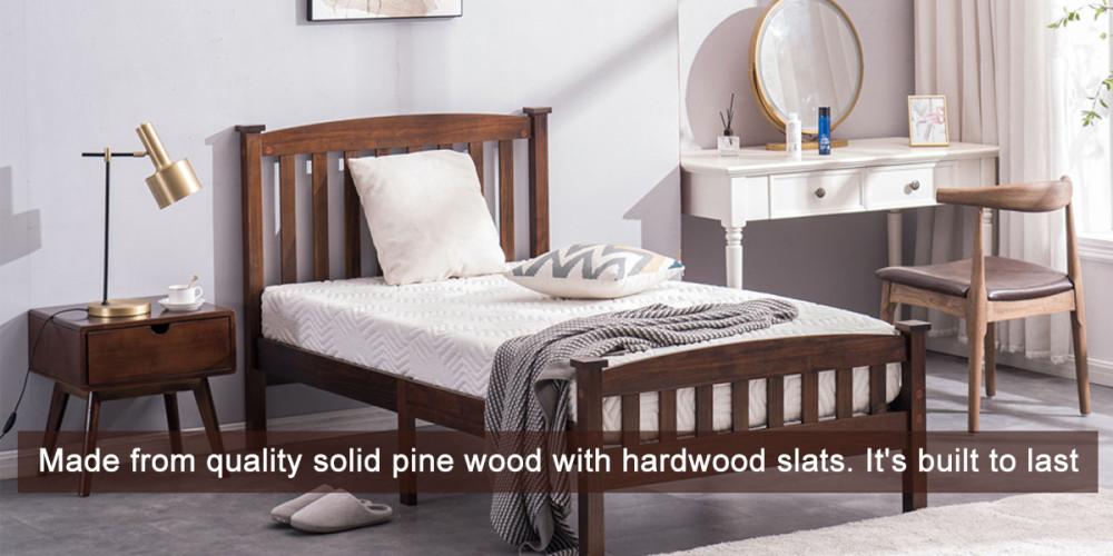 Cap Vertical Strip Bed Walnut Twin