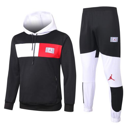 Paris Saint Germain Training Hoodie Suit 20/21 Black