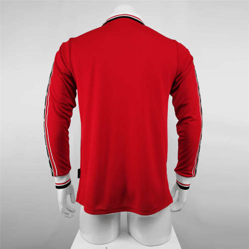 Manchester United Home Long Sleeve Retro Jersey 98/99