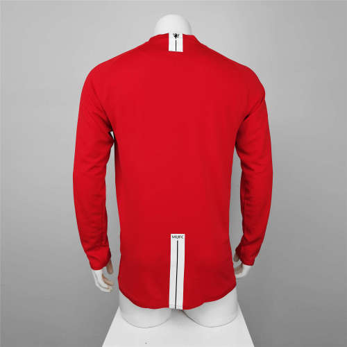 Manchester United Home Long Sleeve Retro Jersey 07/08
