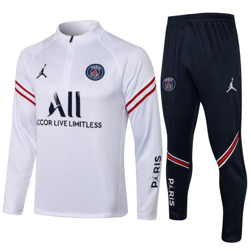 Paris Saint Germain Training Jersey Suit 21/22 White