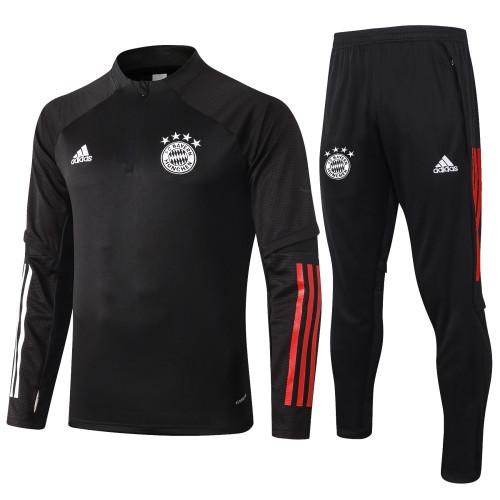 Bayern Munich Kids Training Jersey Suit 20/21 Black