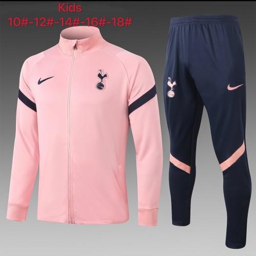Tottenham Hotspur Kids Training Jacket Suit 20/21 Pink