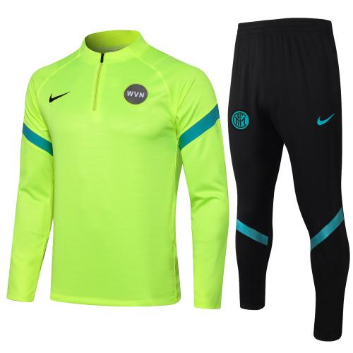 Inter Milan Training Jersey Suit 21/22 Fluorescent Green