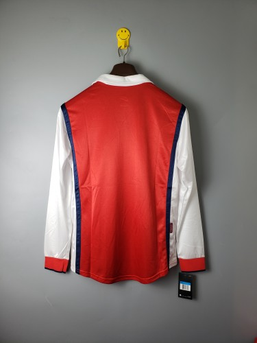 Arsenal Home Retro Long Sleeves Jersey 98/99