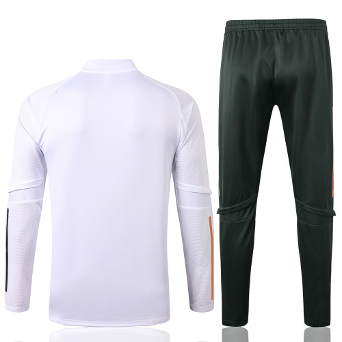 Manchester United Training Jersey Suit 20/21 White