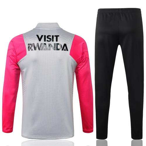 Paris Saint Germain Training Jersey Suit 21/22 Gray-Pink