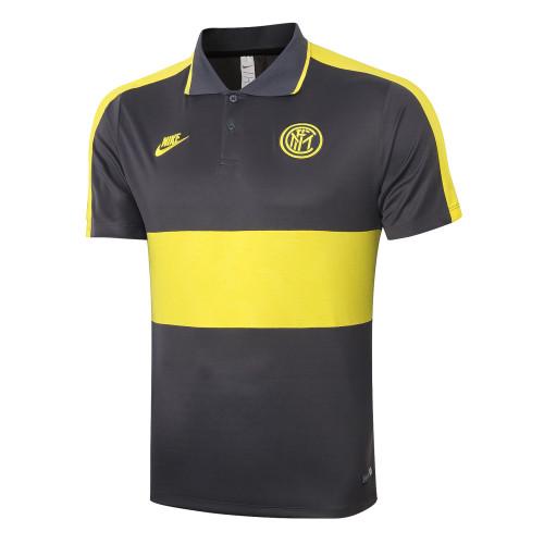 Inter Milan POLO Jersey 20/21 Dark grey