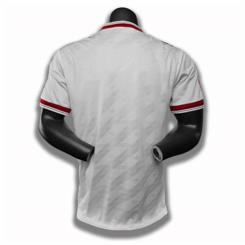 Manchester United white Retro Jersey 1986
