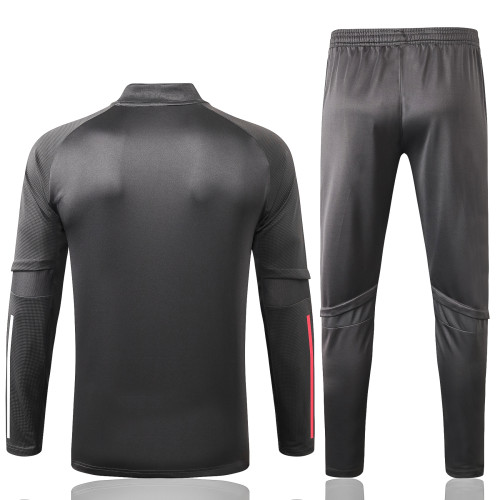 Real Madrid Training Jersey Suit 20/21 Light Grey