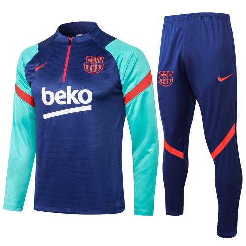 Barcelona Training Jersey Suit 21/22 Blue