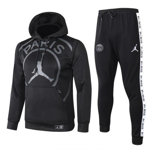 Paris Saint Germain Kids Training Hoodie Suit 20/21 Black