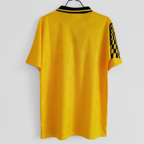 Tottenham yellow Retro Jersey 1992/94