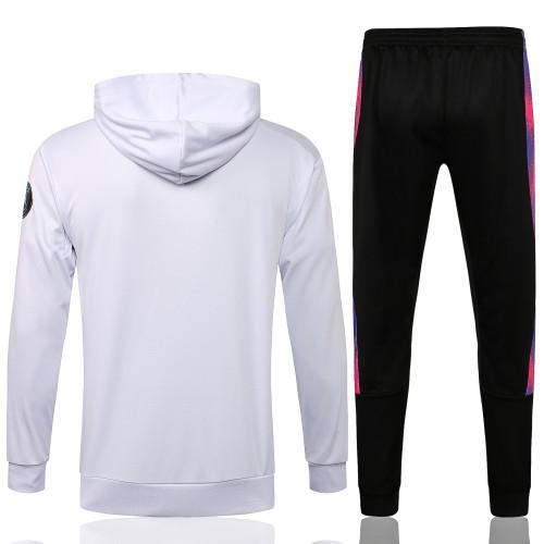 Paris Saint Germain X Jordan Hoodie Suit 21/22 White-02