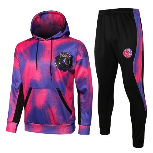 Paris Saint Germain X Jordan Training Hoodie Suit 21/22 Purple