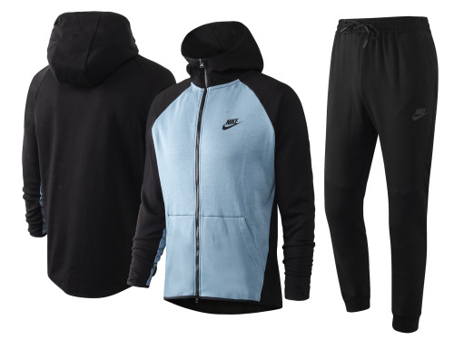 Nike Cotton Jacket Suit Blue
